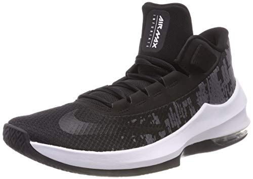Nike Herren Air Max Infuriate 2 Basketballschuhe, Mehrfarbig (Black/White/Anthracite 001), 42.5 EU