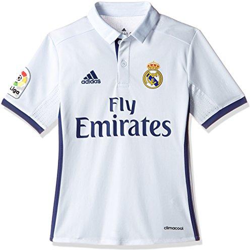 adidas Real Madrid H Jsy Y - Camiseta Real Madrid 2016/2017 para Niños, Multicolor(Blanco / Morado), 11-12 años