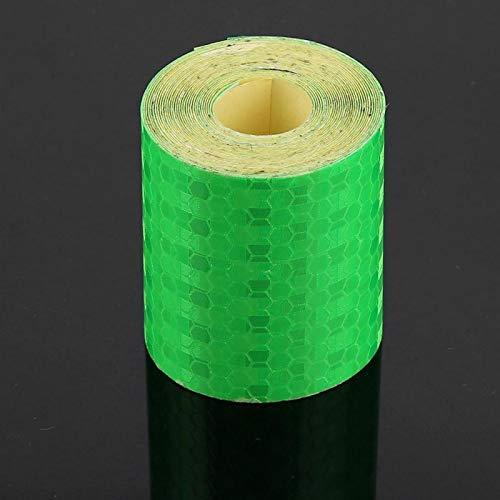 Adhesivo para bicicletas de seguridad 5cmx3m ideal para bicicletas, camiones, remolques, botes para remolques, autos, bicicletas(green)