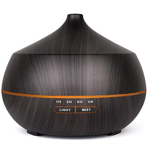 Diffusore di aromi per oli essenziali, umidificatore a ultrasuoni con 7 luci LED che cambiano colore.