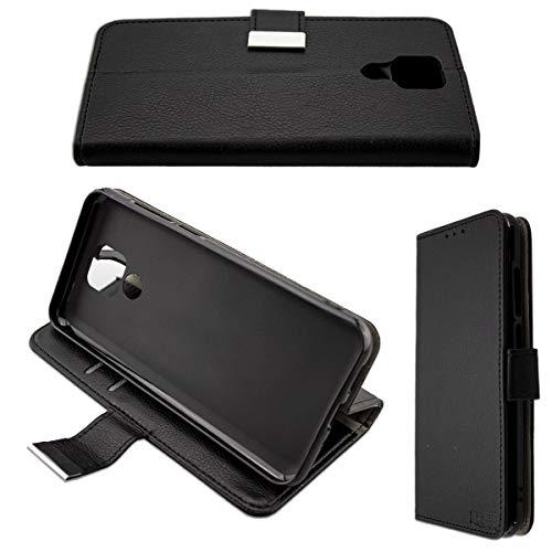 caseroxx Tasche für Ulefone Power 6 Bookstyle-Hülle in schwarz Cover Buch