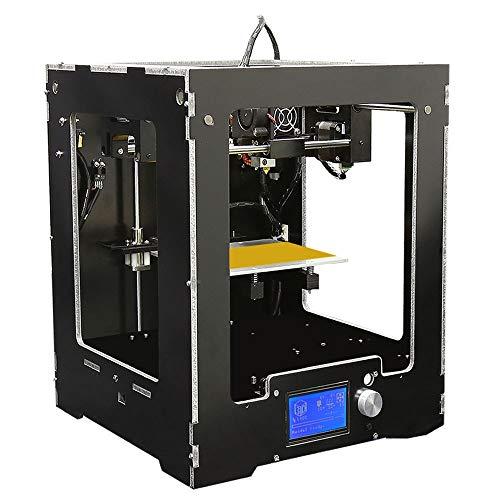 TONGDAUR Machine d'impression FDM de Bureau en Aluminium d'imprimante en Aluminium de Haute précision d'affichage à Cristaux liquides 3D d'Anet A3-S avec Le kit de Montage Complet de Filament de 10m