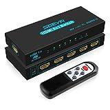 HDMI Switch 4k, SGEYR HDMI Splitter Switch 4K 30Hz HDMI Interruttore 5 Ingressi 1 Uscita Switcher HDMI 1.4 Supporta 4K 30Hz 2K UHD HDCR 1.4 3D 1080P per PS4 Xbox HDTV DVD