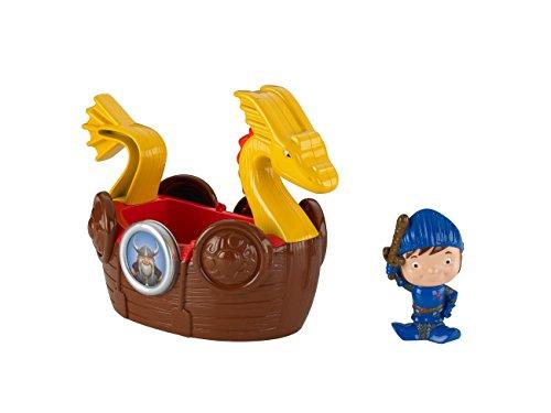 Mattel Fisher-price - Y8373 - Figurine - Mike le chevalier - Bateau de Viking pour le bain