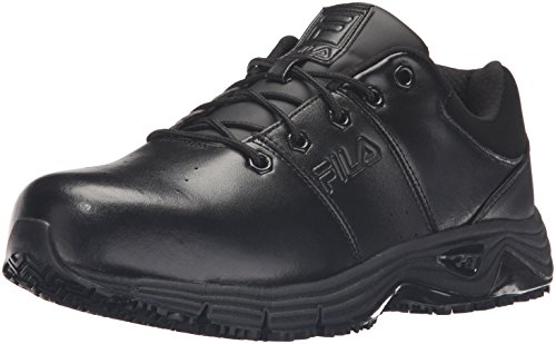 Fila Men's Memory Breach Work Slip Resistant Steel Toe Low Walking Shoe, Black, Black, Black, 10.5 M US