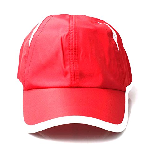 Accessoryo - Casquette de Baseball Rouge Doux des Hommes avec Garniture Blanche et Les détails de Maille