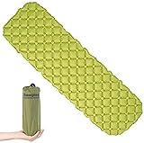 Semptec Urban Survival Technology Schlafmatte: Ultraleichte Outdoor-Luftmatratze mit Tasche, schnell aufblasbar, grün (Zeltmatten)