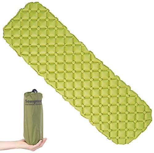 Semptec Urban Survival Technology Campingmatte: Ultraleichte Outdoor-Luftmatratze mit Tasche, schnell aufblasbar, grün (Isoliermatte)