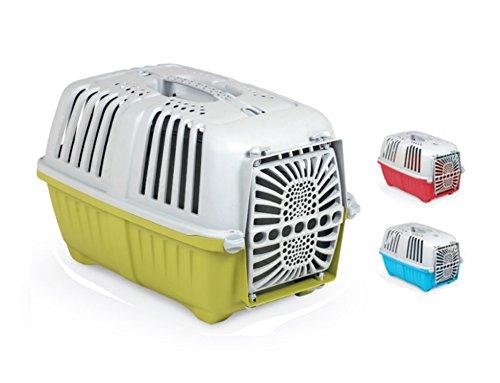 Trasportino Pratiko Plastica - Accessorio da viaggio, con porta in plastica, per cani e gatti