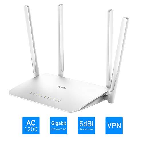 Cudy WR1300 AC1200 Mbps Router inalámbrico Gigabit, WiFi MU-MIMO de Banda Dual, Modo Multi, 5 x Gigabit RJ45, 4 x 5dBi Antenas, OpenWRT, 128MB DDR3, Puerto USB 3.0, PPTP/L2TP VPN