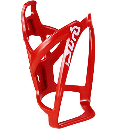 Pioneeryao Bike Water Bottle Cage Bicycle Water Bottle Holder Lightweight with Screws Hex Keys Red
