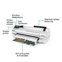 HP Designjet T125 (5ZY57A) Inkjetprinter, grijs, mediabreedte tot 610 mm*