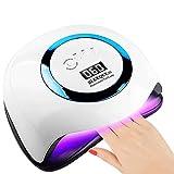 FRlss Secador de uñas para pulidos de uñas de Gel de uñas de uñas, lámpara de uñas LED UV Profesional con 4 ajustes de Temporizador Sensor Inteligente 42 LED 168W, Azul