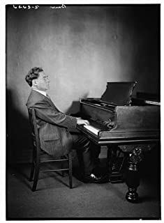 HistoricalFindings Photo: Bauer at Piano,Harold Victor Bauer,1873-1951,Noted Pianist,Violinist,Musician