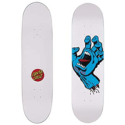 Santa Cruz Skateboard-Deck Screaming Hand Taper Tip - 8.3 Inch Weiß (One Size, Weiß)