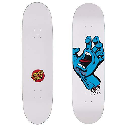 Santa Cruz Skateboard Deck Screaming Hand Taper Tip White 8.25