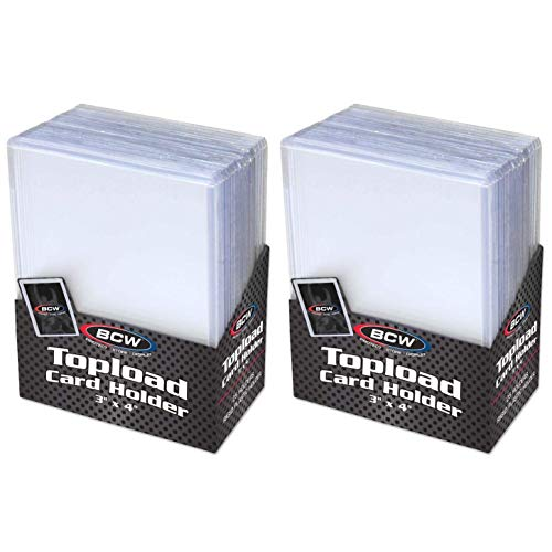 BCW Clear Topload Card Holder for Standard Cards 3