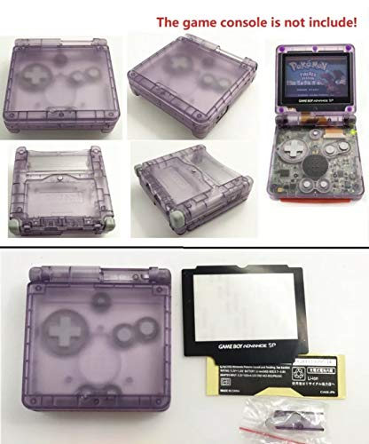 RGRS Replacement Transparent Atomic Purple Full Housing Shell Case Repair Parts Kit w/Lens & Screwdriver for Nintendo Gameboy Advance SP GBA SP Console…