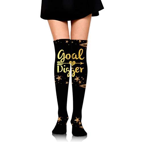 Nice-Guy Goal Digger Damenstiefel Overknee Oberschenkel Hohe Socken Strumpf