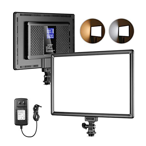 Neewer Ultra-Thin LED Soft Light Panel with LCD Display, Built-in Lithium Batteries, Dimmable...