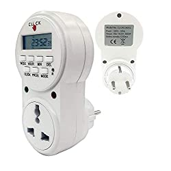 Electrobot Plastic 24x7 Automatic Smart Digital Programmable Timer Switch with Smart Socket Plug with 20 ON/Off Setting (White),Alpha Shope,GET03A-VN