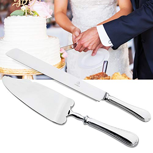 OTW PAVILION 2 Piece Wedding Cake Server Set,18/10 Stainless Steel Dessert Set Pie Server Cake Cutter Knife for Birthday,Anniversary,Holiday,Baby Shower,Party