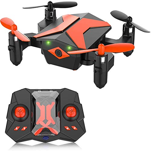 Mini Drone - RC Helicopter, Drone for Kids & Beginners, RC Quadcopter with One Key Take Off, Headless Mode, Altitude Hold, 3D Flip, LED Light for Kids, 2.4Ghz 6-Axis Gyro, Great Kids Gifts