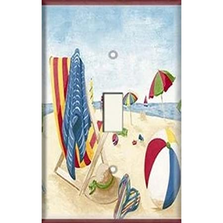 Beach Decorative Outlet//Duplex Light Switch Plate Cover