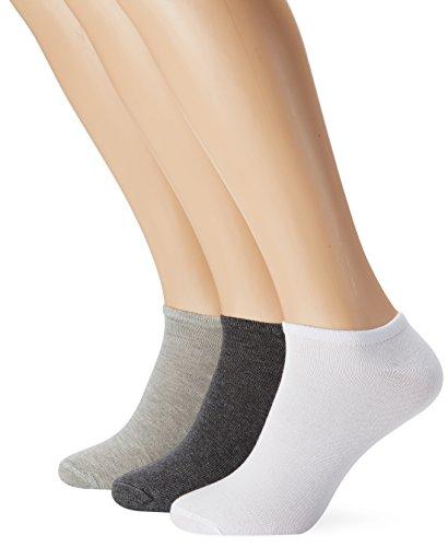 s.Oliver Socks Damen Sneakersocken S24008, 100 DEN, Gr. 35/38, Mehrfarbig (weiß/grau/anthra)