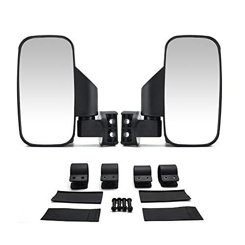 WWHPVP Specchietto Retrovisore Universale, Specchio UTV 1.75'2' Specchio Retrovisore Lato Specchio per Polaris RZR 800 900 1000 per Il Comandante Maverick X3