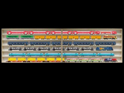 Alsino 2,50 m lang HO modelbouw zetkast plank vitrine, sprookjesklin, plank met groeven voor spoor H0 2E15ALR