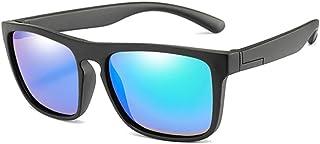 ZHHAO - ZHHAO Niños Gafas de Sol Polarizadas Polarizadas Plaza Muchachas Gafas Eyewear Infantil UV400 Protección Gafas de Sol Edad 2-14 (Negro Verde)