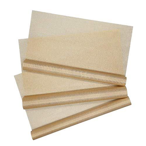 Yuhtech Papel de Horno, 3 Piezas 40 x 30cm Esterilla para Horno Reutilizable láminas para Hornear Papel para Horno Antiadherente