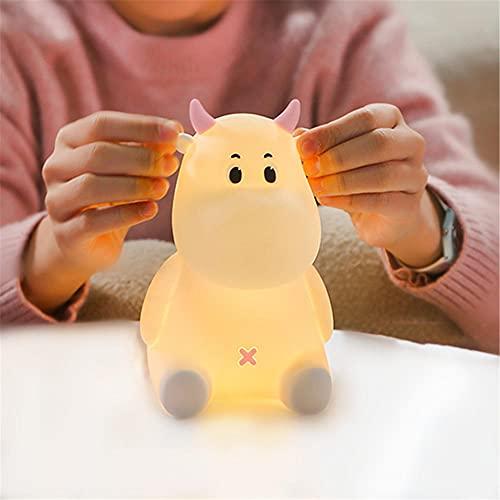 Luz Nocturna Infantil, lámpara de animales LED con 7 modos de color y 3 brillo ajustable Toque USB recargable para sala de estar/dormitorio/fiesta