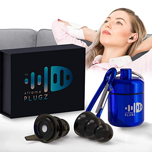 Xtreme Plugz Noise Cancelling Earplugs - High Fidelity Hearing Protection for Concerts Musicians Motorcycle Sensory Disorders and Other Noisy Environments - 3 Different Sizes to Fit All Ear Shapes