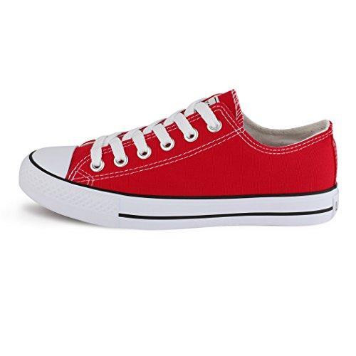 best-boots - Zapatillas Deportivas con Cordones para Mujer Rojo Size: 42 EU