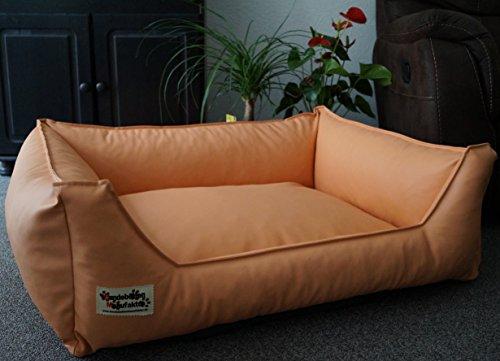 Hundebett Hundesofa Schlafplatz Kunstleder Acceso 105 cm X 80 cm apricot