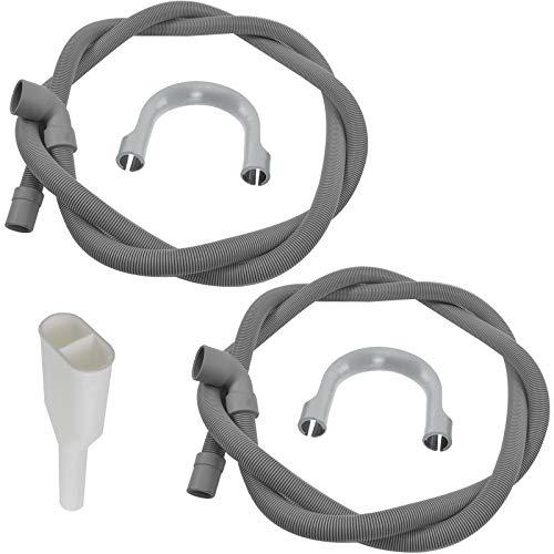 SPARES2GO Afvoerslangset + 2 tot 1 uitlaatadapter voor Samsung wasmachine of vaatwasser (2 slangen, 1 adapter)
