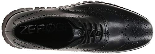 Cole Haan Men's Zerogrand Wing OX Leather Oxford, Closed Hole/Black, 15 Wide US