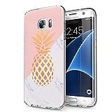 Zhuofan Plus Coque Samsung Galaxy S7 Edge, Silicone Transparente avec Motif Design Antichoc Housse de Protection TPU 360 Bumper...