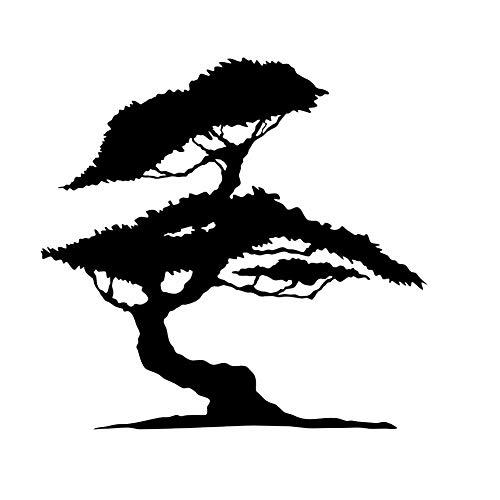 Bonsai Japanischer Baum wiederverwendbare Schablone A3 A4 A5 & größere Größen Wanddekoration T4, Widerverwendbare PVC-Schablone, A5 size - 148 x 210 mm, 5.8 x 8.3 in