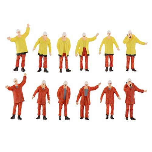 T TOOYFUL 12 Pezzi 1:50 Figure in Scala S Miniature Parcheggio Scenario Ferroviario Acc