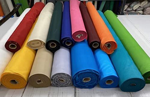 Toptablecloths - Tela impermeable por metro, ancho 140cm, 15 colores, para el hogar y jardín, tela deslizante, acrílico, Blanco, 3 m