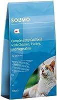 Marque Amazon - Solimo - Croquettes complètes pour chats adultes, au poulet, dinde et légumes, 1 Pack de 10kg