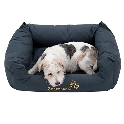 PaylesswithSS Sleepy Time Panier pour chien Gris Taille L 120 x 95 x 30 cm