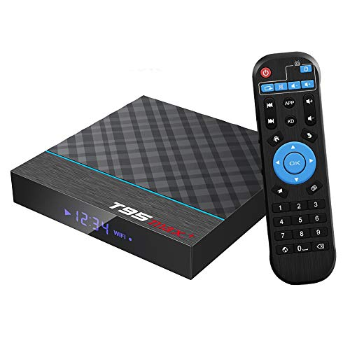 Android TV Box, T95 MAX+ Android 9.0 TV Box 4GB RAM/32GB ROM Amlogic S905X Quad-Core Support 2.4Ghz/5.0Ghz WiFi 8K HDMI Bluetooth 4.0 TV Box