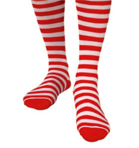 Pams Chaussettes rayées Rouge/blanc