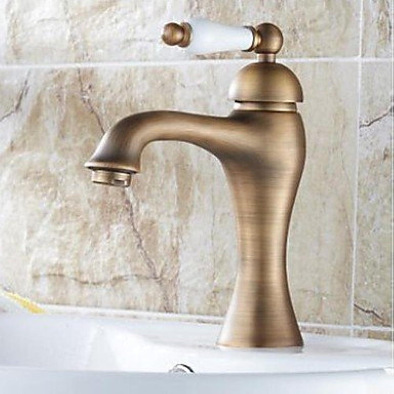 SUNNY KEY-Waschbecken Wasserhahn @ Centerset traditionelle einzelne Bronze Badarmaturen einzelne Loch in