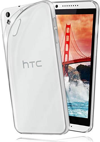 moex Aero Hülle kompatibel mit HTC Desire 816 - Hülle aus Silikon, komplett transparent, Klarsicht Handy Schutzhülle Ultra dünn, Handyhülle durchsichtig einfarbig, Klar
