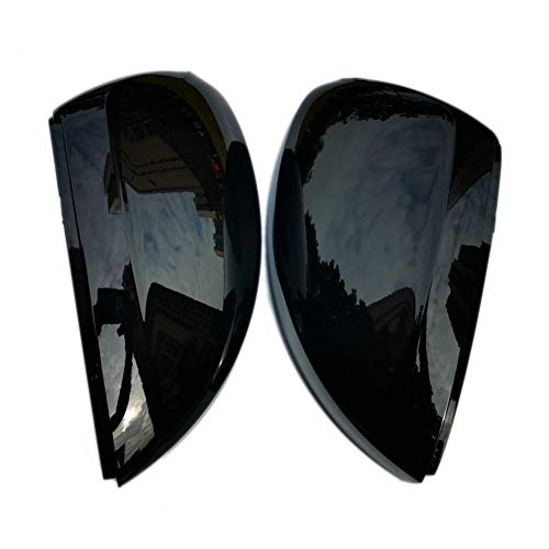 SXHNNYJ Black Side Wing Mirror Caps Cover,for VW Tiguan Allspace L MK2 2017 2018 Replacement 2019 2020 (Glossy Pearl Black)